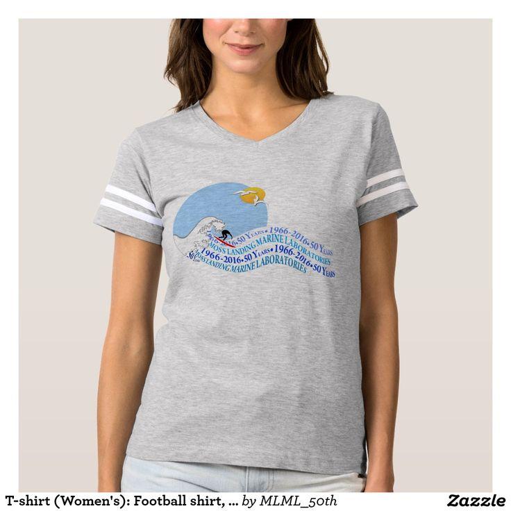 T-shirt (Women's): Football shirt, Heather Grey