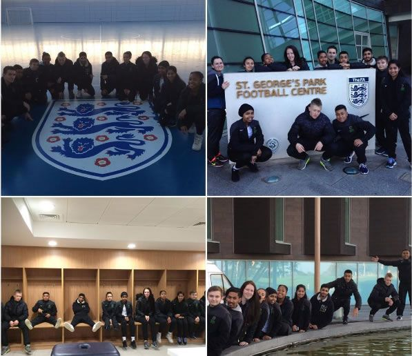 The year 12 Sports Academy students went to St Georges Park (the National Football centre) during their enrichment lessons with Miss. O'Farrell. During the visit they had the opportunity to learn the full structure for sports funding in the UK and then got a full tour of the amazing facilities.