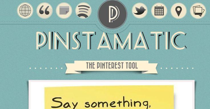 Pinterest co to jest ? Jak z niego korzystać i jak przygotować sympatyczne piny przy użyciu Pinstamatic?
