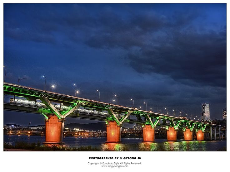 청담대교-Cheongdam Bridge Night View by 경수 이 on 500px