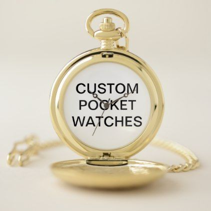 Custom Personalized Pocket Watch Blank Template - create your own gifts personalize cyo custom