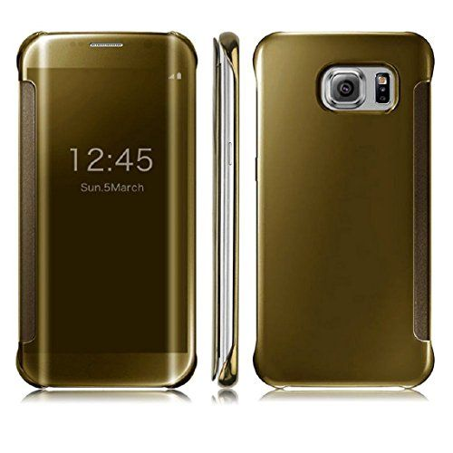 DN-TECHNOLOGY® Samsung Galaxy S7 Case-Samsung S7 Case GOLD ***All New Auto Sleep Wake Function *** Clear S view Window Flip Case Full Body Coverage TPU case. Protects Your Phone From All Around DN-TECHNOLOGY® http://www.amazon.co.uk/dp/B01AJZXP0W/ref=cm_sw_r_pi_dp_jVyYwb0QDMW9J