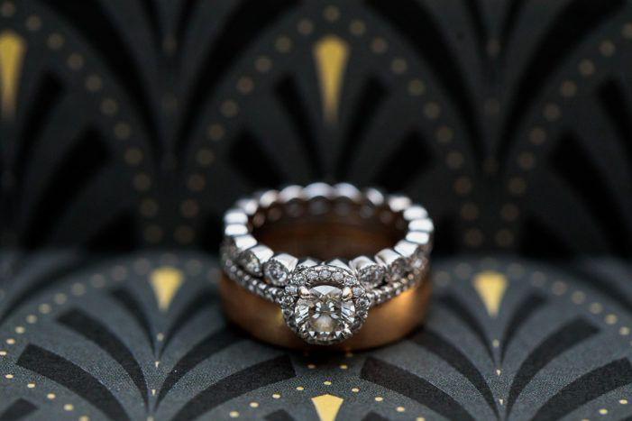 Art Deco Inspired Baltimore Wedding Wedding Rings Vintage Wedding Rings Matching Wedding Rings