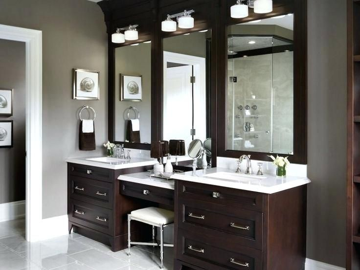 Tasty Master Bathroom Vanity With Makeup Area Incredible Best