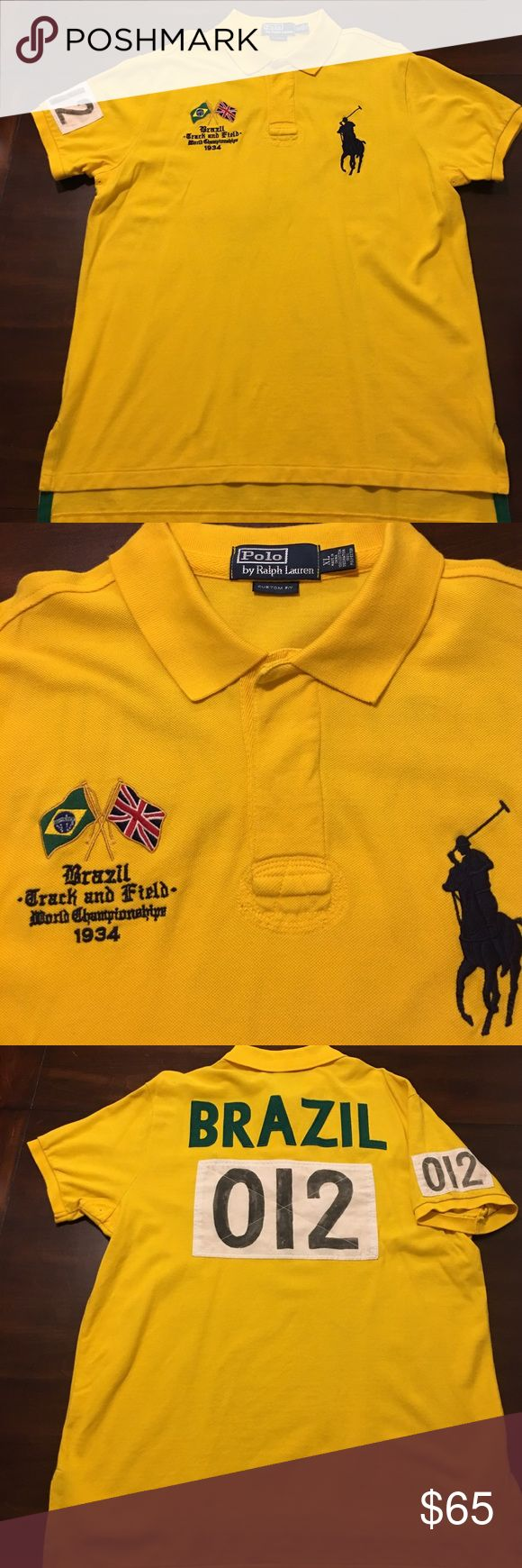 Polo by Ralph Lauren Brazil 1934 Track Field Shirt Polo by Ralph Lauren Brazil 1934 Track Field shirt in size XL. Polo by Ralph Lauren Shirts Polos