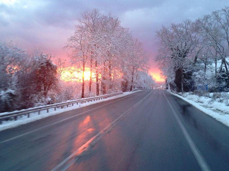 Χιονισμένος Πλαταμώνας! photo: Sofia Voulgaraki