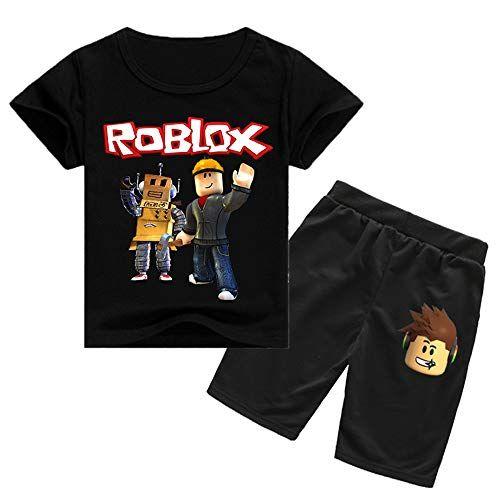 Roblox T-Shirt Rundhalsausschnitt Kurzarm Bedrucktes T-Shirt und Freizeit Gemüt… – amazonmode