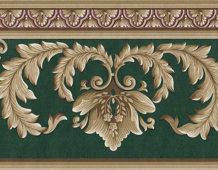 Details about Victorian Green Burgundy Golden Brown