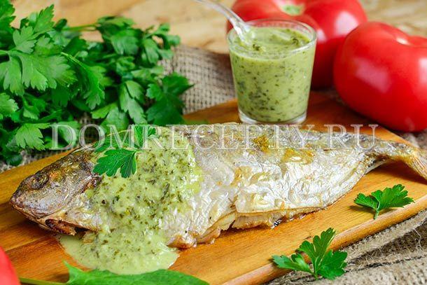 Рыба со щавелевым соусом