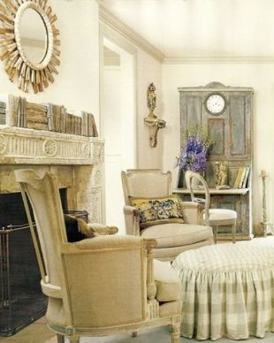 Authentic French Country Sitting room