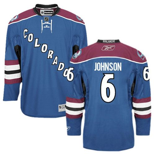 Erik Johnson jersey-Buy 100% official Reebok Erik Johnson Men's Authentic Blue  Jersey NHL Colorado Avalanche #6 Third Free Shipping.