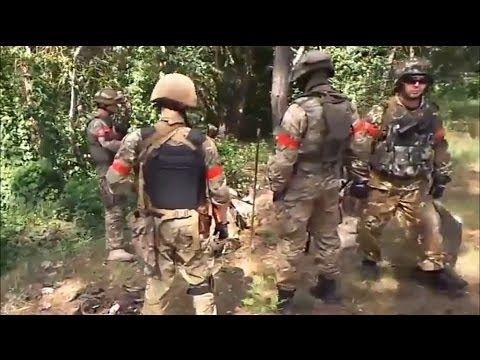 Украина.Силы АТО захватили лагерь террористов под Красным Лиманом.Видео....