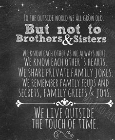 estranged brother and sister quotes - Google Search