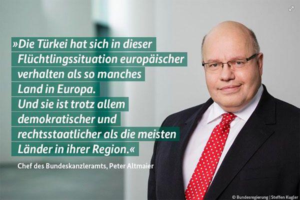 Peter Altmaier (CDU) hält Türkei für rechtsstaatlich und europäisch