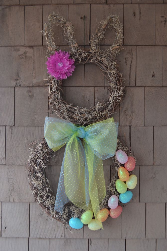 Hometalk | Spring Easter Bunny Wreath for Less Than $10