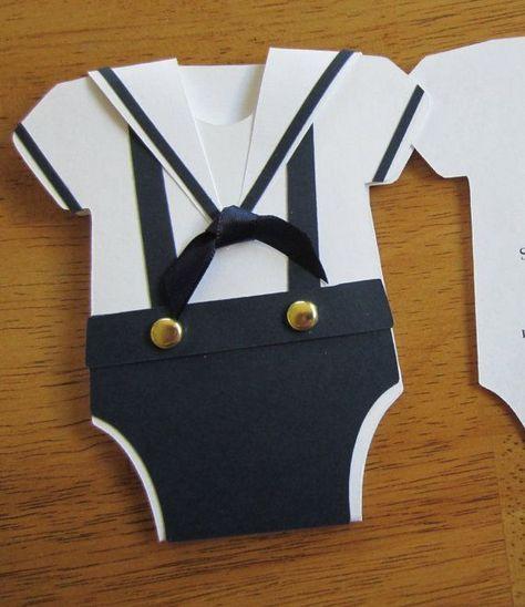 handcrafted baby shower invitations | Handmade Baby Shower Invitation Onesie Shape by ... | Handmade Cards