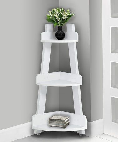 Another great find on #zulily! White Three-Tier Corner End Table #zulilyfinds