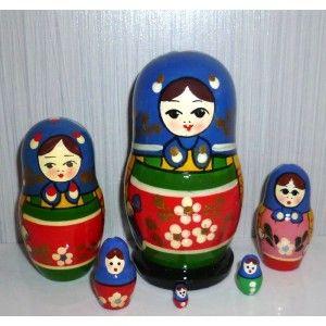 Zagorsk blue scarf with handkerchief 6-set #Babushka #russiandoll #matryoshka #dollsindolls #decor #traditional