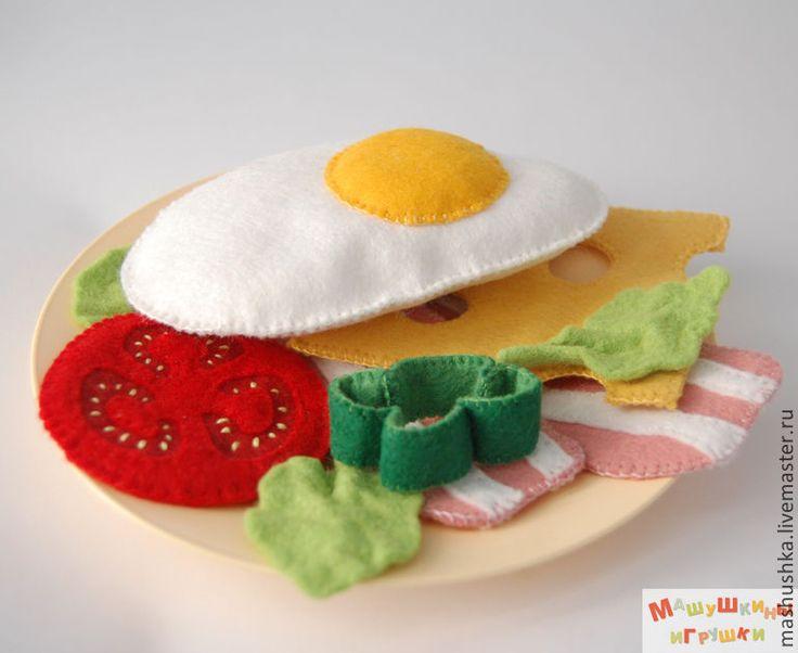 Купить Деревенский завтрак - еда из фетра - еда из фетра, фетровая еда, игрушечная еда