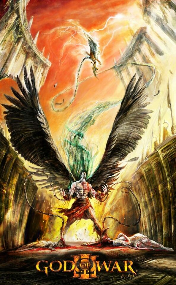 He's about to fly - Kratos - God of War #illustration