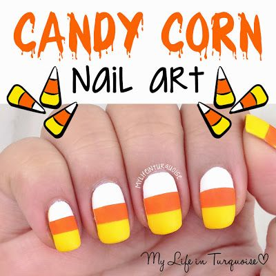 Candy Corn Nail Art (My Life in Turquoise)