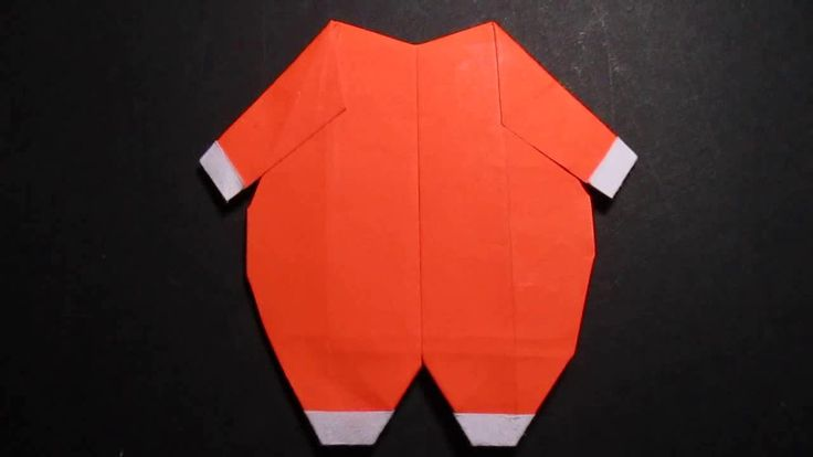 Origami baby suit