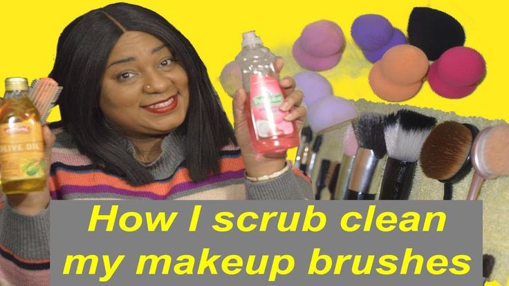 how to clean foundation brush with olive oil
