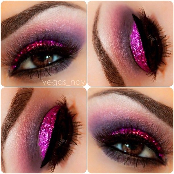 Image result for fuschia eye glitter