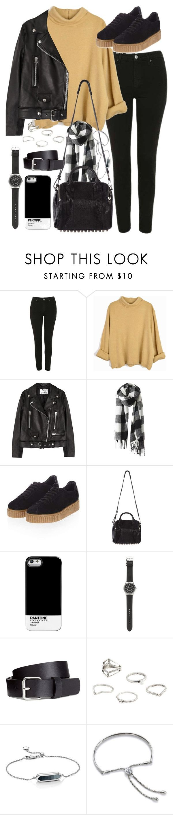 """outfit for a causal day with topshop creepers"" by ferned on Polyvore featuring Topshop, Acne Studios, Alexander Wang, Case Scenario, J.Crew, H&M, MANGO and Monica Vinader"