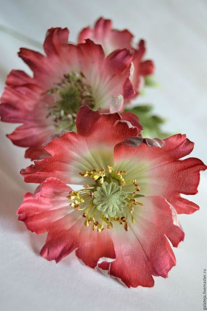 Цветы ручной работы. Ярмарка Мастеров - ручная работа. Купить Три Мака Цветы из шелка. Handmade. Бордовый, интерьерное украшение