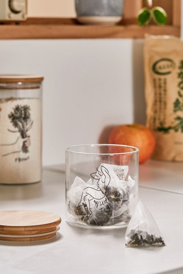 Small Wooden Lid Glass Storage Jar Wohnen
