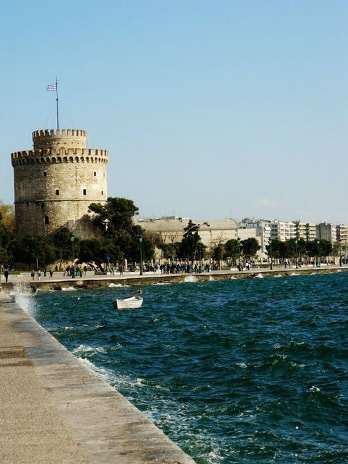 Thessaloniki - The White Tower. Greece's second largest city with a population nearing 800,000, this bustling metropolis has a history spanning 2,300 years from its founding  in 315 BC by Cassander of Macedon. The city is a great alternative to Athens and is peppered with historic attractions. In fact, Thessaloniki has more UNESCO World Heritage Sites listed than any other city in Greece - a total of 15 monuments. Here is the famous White Tower, built by the Ottomans to defend the port.