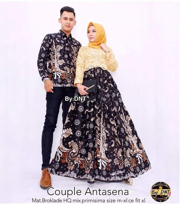 Model Gamis Kombinasi Couple 25