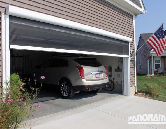This is something new, retractable screen for your garage.