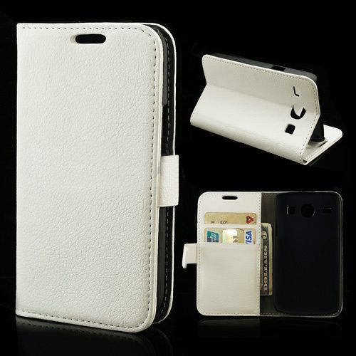 Bookcase hoesje wit voor de Samsung Galaxy Core