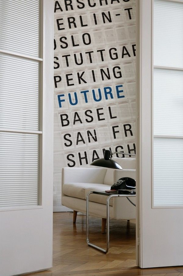 30 Creative Ways of Bringing Letters and Words Into Your Home - http://freshome.com/2012/05/15/30-creative-ways-of-bringing-letters-and-words-into-your-home/