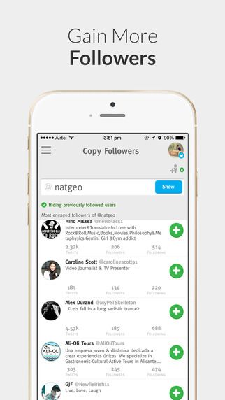 Find your unfollowers, followers, inactive users, admirers, people who will follow back and more for Twitter and Instagram! Schedule posts for Instagram, send automatic direct messages, find twitter users near you - take your social media marketing to the next level. Download here now quick to get marketing!