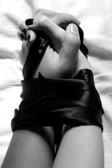 Silk wrist bondage life