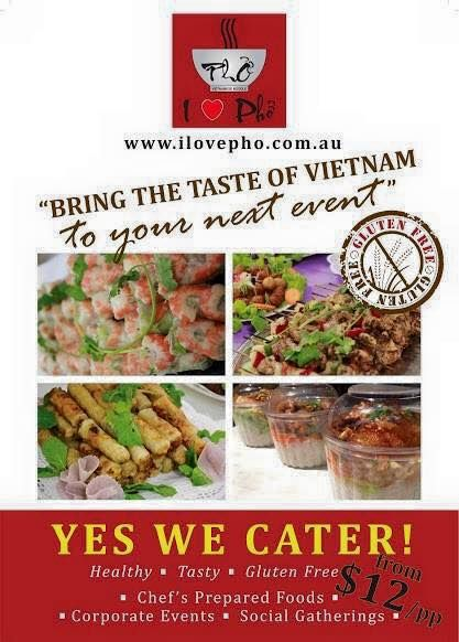 Why not make your biz events & meeting to the next level?  Happy tummy, Happy people!  ‪#‎iLovePho‬ brings the Vietnam's experience & restaurant foods to ‪#‎cater‬ you & your guests at your place..  Our foods are ‪#‎glutenfree‬ & ‪#‎vegetarian‬ & ‪#‎vegan‬ friendly and SUPER Fresh & Tasty !