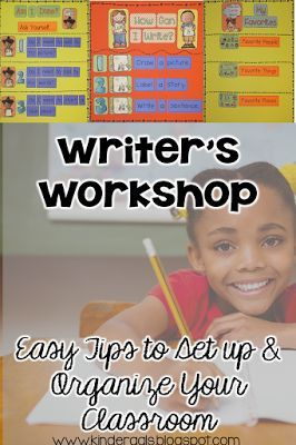 Classroom Set Up Writer's Workshop - Easy tips to set up and organize your kindergarten classroom. Perfect for back to school or organizing your writing materials mid-year.