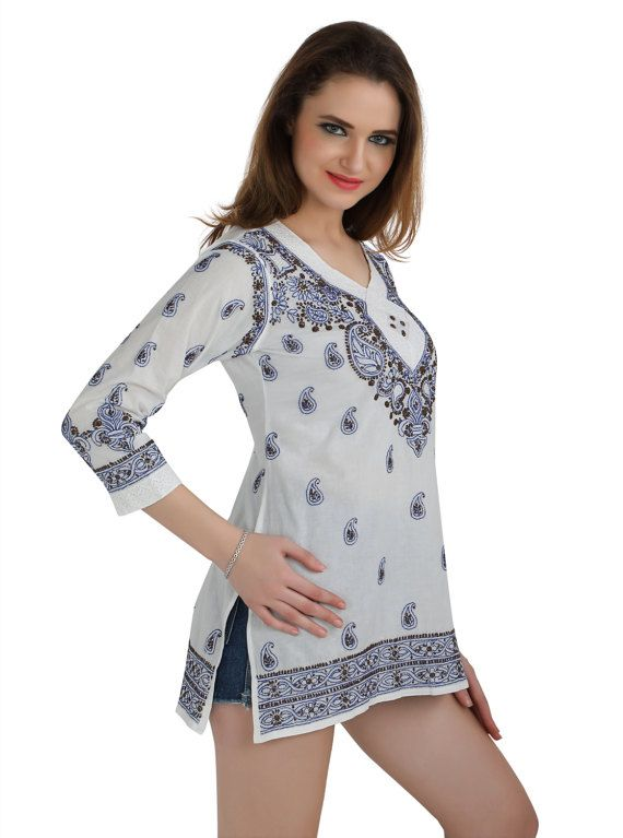 You can never go wrong with this white chikankari kurta crafted using pure and gentle fabric especially for those women who love to flaunt their real self. And while the world is going organic and green in every sense, this beautiful chikankari kurta just lets you be in the flow—is handmade, minimalistic in its design yet high on its appeal and much in lines with today's fashion.     An integral part of Indian culture since 655AD, chinkankari has been strongly rekindled to match the taste of…