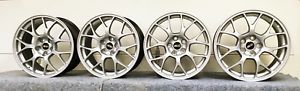 a bbs evo x mr oem wheels 18 x 85 mitsubishi evolution forged rims silver