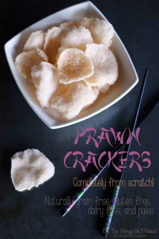 How to make Asian prawn crackers from scratch. They are naturally gluten free, grain free, dairy free, and paleo.