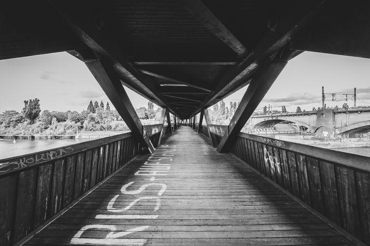 Holzbrücke bei der Wilhelma, Stuttgart