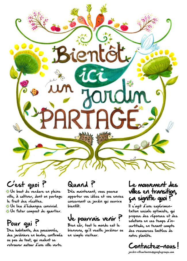 jardin partagé : c'est quoi?, pour qui?, quand... (Villeurbanne)