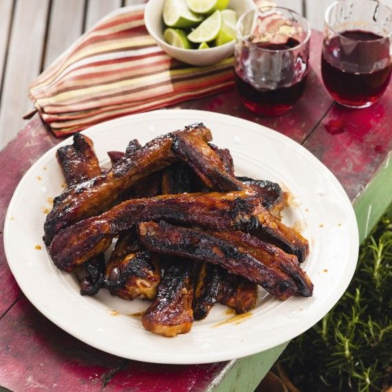 Sweet chilli and lime pork ribs. A tangy, tasty alternative for ribs, perfect on the barbecue #barbecueribs #sweetchilli #porkribs