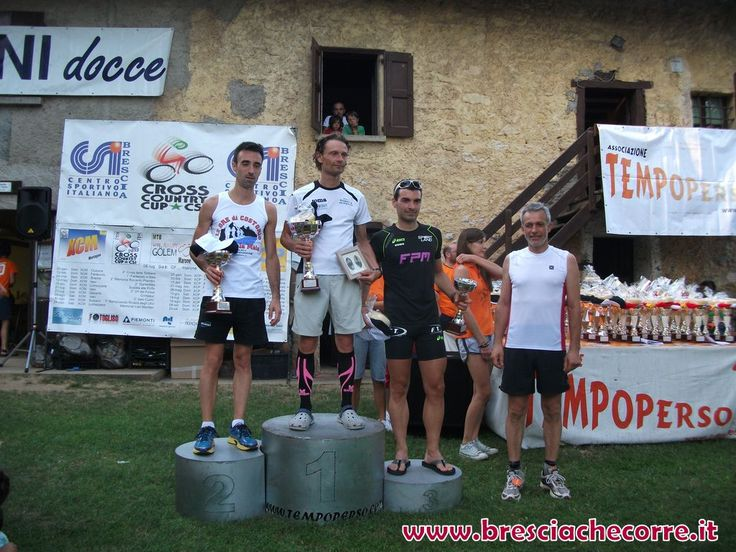 Marco on the top step of the podium @ Grimpeu Run 2013