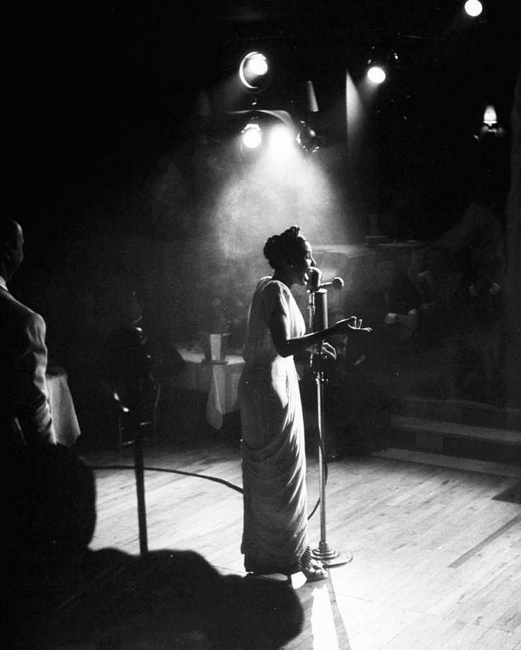 Lena Horne performing in Paris, 1948, photo by Yale Joel