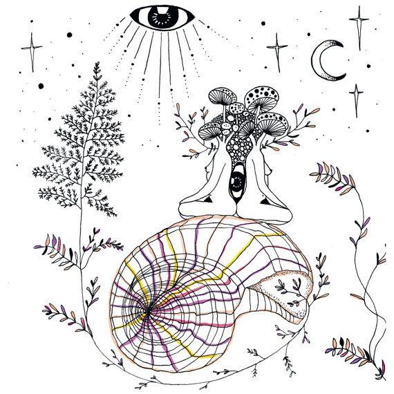 Mycelium Magick / MerakiLabbe / Sacred Geometry <3