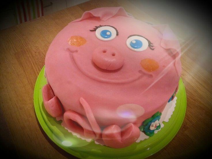 Geburtstagstorte Glückliches Schwein zum 60.